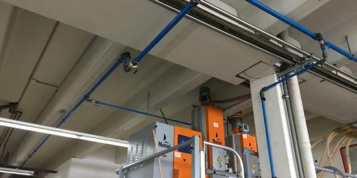 Kläger Plastik wählt AIRpipe um seines Stahlrohrsystem zu ersetzen